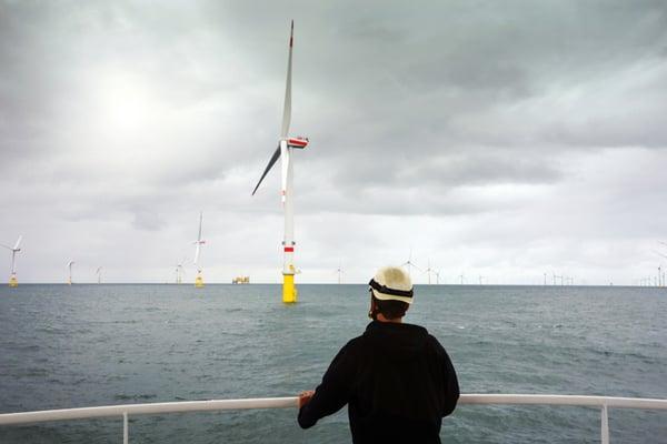 wind turbine efficiency - in the ocean